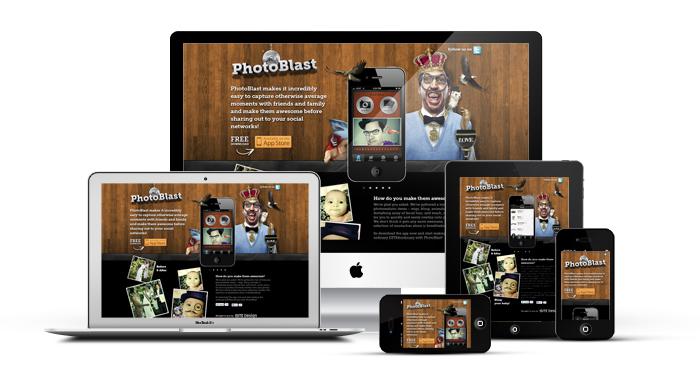 Screenshots of PhotoBlastApp
