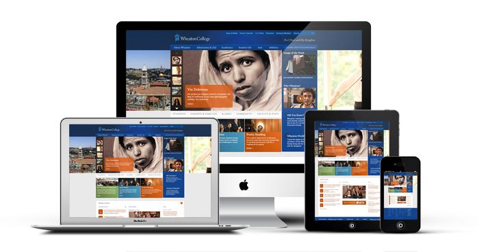 Screenshot of Wheaton  homepage